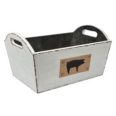 Pig Distressed Basket