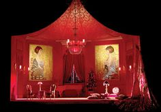 Die Fledermaus (Act I). Metropolitan Opera. Scenic design by Robert Jones.