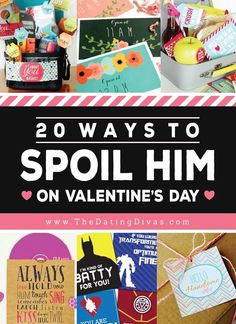 86 Ways to Spoil Your Spouse on Valentine's Day - From The Dating Divas These ideas are just what I need to help me pick the best gift for my hubby! Valentine Desserts, Valentine Day Crafts, Be My Valentine, Guys Valentines Gifts, Valentines Day Gifts For Him Marriage, Valentine Ideas, Valentine Cards, Diy Gifts, Best Gifts