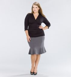 Womens Plus Sizes Four Seasons Godet Skirt