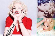 """Madonna dévoile la couverture de l'édition standard de son nouvel album """"rebel Heart"""", inspiré de Marilyn Monroe !"""