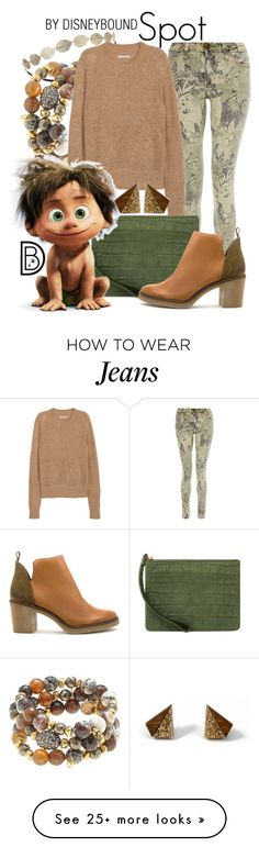 """Spot"" by leslieakay on Polyvore featuring Current/Elliott, Miss Selfridge, Hipchik, H&M, Emily Cho, Miista, Wolf & Moon, disney, disneybound and pixar"