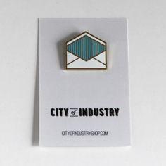 Enamel Envelope Pin $12