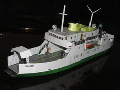Limhamn Ferry Free Ship Paper Model Download
