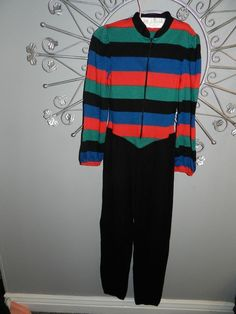 5ec58a61bfb Lady Vintage Jumpsuit Coverall Long Sleeve Acrylic Pant Suit Black Red  Green M L  fashion
