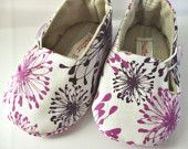 Fabric baby shoes.