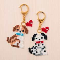 Puppy with heart perler bead Hama Beads Design, Diy Perler Beads, Perler Bead Art, Pearler Beads, Melty Bead Patterns, Hama Beads Patterns, Beading Patterns, Hama Beads Animals, Beaded Animals