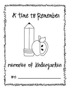 end of kindergarten memory book (worked wonderfully for my kids last year)