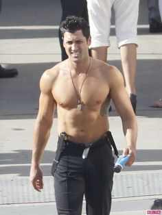 Maksim Chmerkovskiy.  Oh how I'd love to dance with him... Yum I miss him this season :(