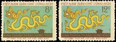 Vietnam Stamps - 1960, Sc 140-1, VN Code # 75, 950th Founding anniv. of Hanoi (1010 - 1960), MNH, F-VF by Great Wall Bookstore, Las Vegas. $6.75