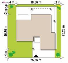Z282 to wyjątkowy dom z kategorii projekty domów z dachem wielospadowym Beautiful House Plans, Modern House Plans, Beautiful Homes, Bar Chart, Floor Plans, How To Plan, Home Decor, Home, House Of Beauty