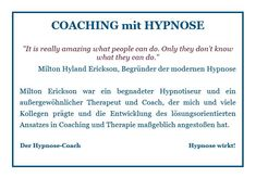 Milton Erickson, Coaching, Train, Linz