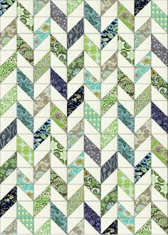 "Bloom: Daisy Chain Quilt.  If made with 6"" HST blocks: 10 blocks wide, 14 blocks…"