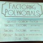 Factoring Polynomials (Algebra 1 Foldable!)