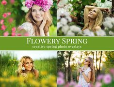20 different kinds of flower overlays (blurred – foreground effect). Great for outdoor pictures, kids & portraits, mini sessions etc.