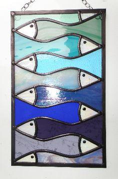 Large Interlocking Fish Panel