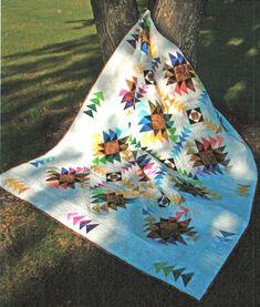 New! Batik Texas Star Quilt Kit - LAP SIZE by Whirligig Designs