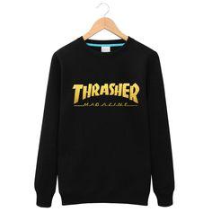2016Fashion Thrasher Brand Sweatshirts Tracksuit Men Fashion Hip Hop Skateboards…