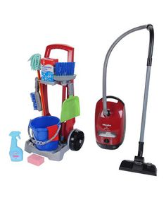 This Cleaning Trolley & Vacuum Toy Set by Klein is perfect! #zulilyfinds