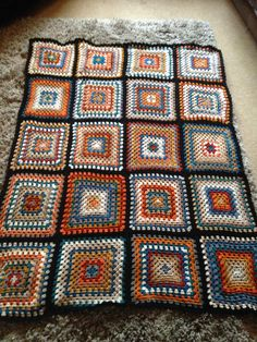 April and the start of the hols! Crocheted Blankets, Crochet Afghans, Crochet Stitches, Granny Square Afghan, Granny Squares, Crochet Fall, Knit Crochet, Hello Dear, Don't Speak