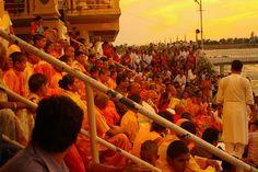Evening prayer, Rishikesh, India