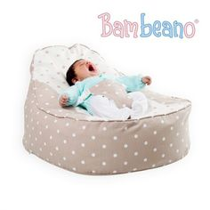 34427002e6 A baby bean bag chair with safety harness and washable cotton cover. Toddler  cover included for 5 years extra at BeanBag Bazaar.