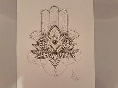 Hamsa lotus Mandala tattoo  design #hamsa #mandala #lotus #tattoodesign #drawing