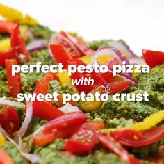 Vegan Pesto Pizza By 17-Year-Old Chef Haile Thomas #pizza #vegetarian #pesto #swap #health
