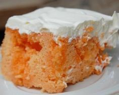 Orange Creamsicle Sherbet Cake | Becky J | Copy Me That