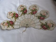 Victorian Sweetheart Fan  Original by victoriansentiments on Etsy, $50.00