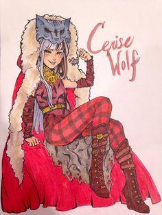 Cerise Wolf by emmisu on DeviantArt