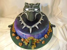 Black Panther Cake, made for a fan of the recently released Marvel block buster. The flavour was a very tasty Jamaican Rum Fruit Cake