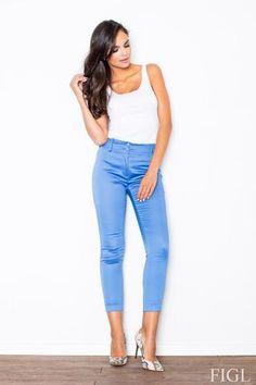 Blue Classic Slim Tailored Cigarette Trousers