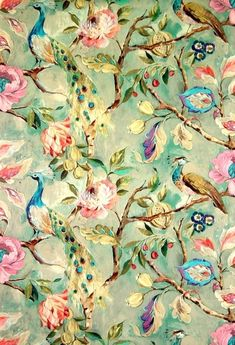 beatpie:  Blenheim Celadon by James Dunlop. James Dunlop textiles. Wallpaper!  Love it!