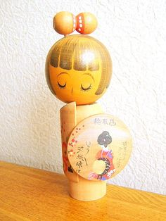Vintage Japanese Kokeshi Doll Shizuoka Ken