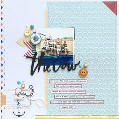 #papercrafting #scrapbook #layout idea: Growing up in: Faith, Love & Scrapphappiness: The Art of Clustering