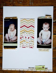 by Becky Novacek - pattern in the middle, stacked behind the photos - stunning
