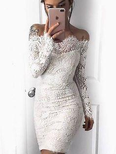 2017 Homecoming Dress Sexy Long Sleeve Lace Short Prom Dress Party Dress JK233