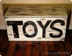 diy toy box - add casters to bottom