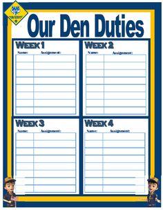 den-duty-chart