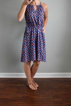 July 2016 Stitch Fix Review: 41Hawthorn Tammi Printed Dress   www.pearlsandsportsbras.com  