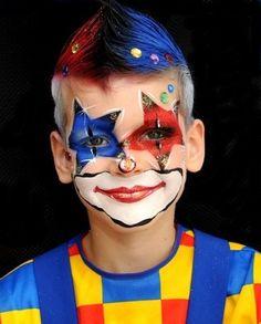 1000 bilder zu clown schminken auf pinterest clowns clown gesichter und clown schminke - Clown schminken bilder ...