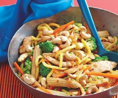 Chicken, Noodle and Cashew Stir-fry