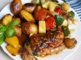 Letní kuře z jednoho pekáčku recept - TopRecepty.cz Kung Pao Chicken, Ethnic Recipes