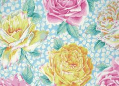 Rose Bloom Fabric - Spring 2015 Collection by Kaffe Fassett Collective