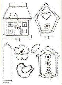CROSS STITCH CHART BUZZING BEE/'S /& BIRDHOUSES CHART TINA WENKE