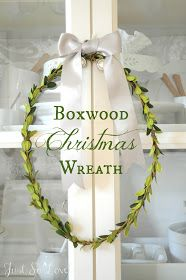 Hello! I've got another wreath tutorial to share with you today! I think this boxwood wreath might be my favorite.     This is wha...