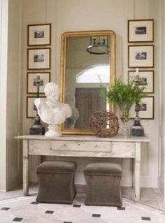 21 ideas para decorar la entrada con una c moda bohemian for Muebles bustos
