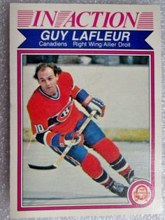 1982-83 OPC GUY LAFLEUR IN ACTION CARD! HOF - NM. #MontrealCanadiens Hockey Cards, Baseball Cards, Action Cards, Montreal Canadiens, Nhl, Vintage Items, Brother, Forget, Guys