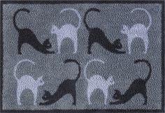Turtle Mat Cotton Designs Multigrip Cats on the Mat 60x85cm
